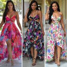 Sari India Cotton Women Shopping Pakistan 2017 New Hot Explosion Models Bohemia Sexy Backless Halter Straps Printing Beach(China)
