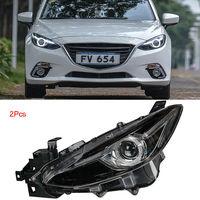 Dynamic Turn Signal LED Headlight DRLs Bi Xenon Projector Lens Fit For Mazda 3 2014 2016