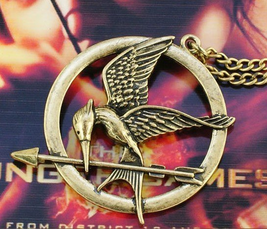 The Hunger game bird necklace hot sale long necklace