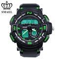 SMAEL Brand Watches Men Dual Time Display Wristwatch LED Digital Watch Quartz Sport Watch relogios masculino montre homme WS1528