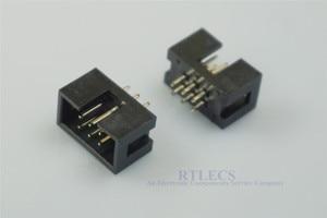 Image 4 - 1000 sztuk osłonięte pole nagłówek gniazdo IDC 2.54mm 2x3 Pin 6 P prosty mężczyzna placu pin 0.64mm 2 rzędy przestrzeni 2.54 przez otwór DIP