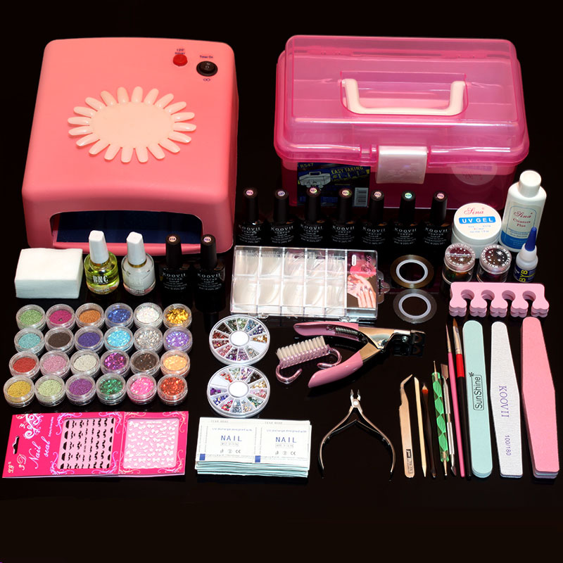 Nail Art Manicure Set 36W/48W UV Nail Lamp+ 10 Colors Nail Gel Polish Base Gel Top Coat With Remover Nail File Tools Kit складной нож lucas burnley design squid™ blackwashed blade stainless steel handle