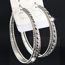 Лидер продаж! Модные женские серьги-кольца с 3 рядами серебристого матового цвета с принтом зебры, вечерние свадебные ювелирные изделия B1058