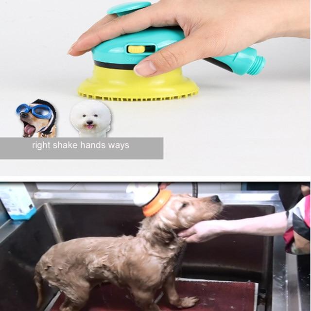 Pet Dog Bath Shower Head Dog Bathtub Sprayers Horse Massage Shower Cleaning  For Dog Hair Washing Tool Cat Pets Accessories