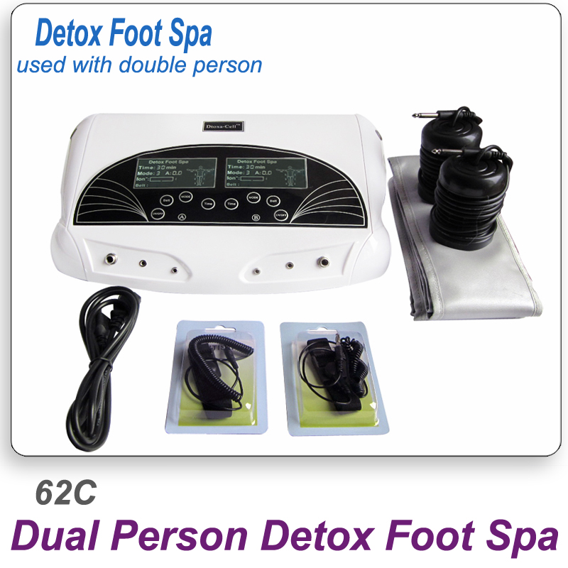 Fast Shipping Dual Persons Detox Foot Spa Machine Ion Cleanse Foot Spa Device Massage ionic detox foot spa with FIR belt AH-62C deep cleansing dual screen display ionic foot detox with aluminum box massage slipper ce detox machine ion foot spa ah 805d