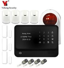 Yobang Security  App Controlled Wifi Alarm System Wireless GSM Home Burglar Alarm System+Keypad Can Work With IP Camera