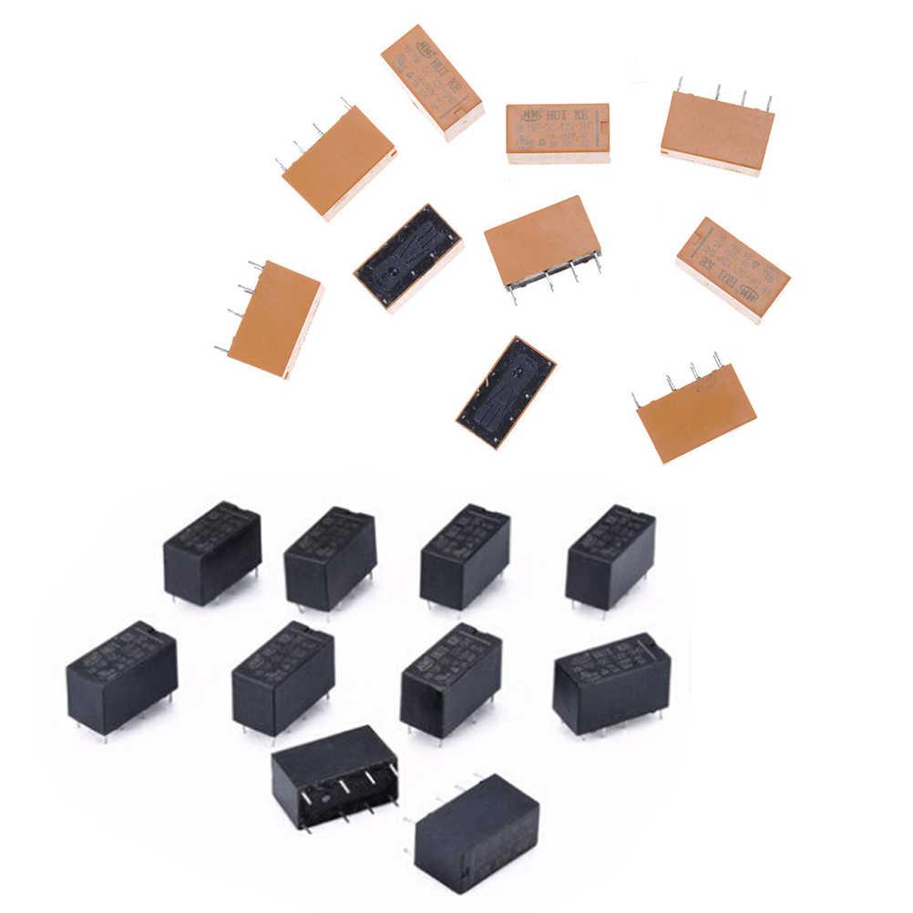 10 adet/grup DC 12V SHG bobin DPDT 8 Pin Mini güç röleleri PCB tipi sıcak satış