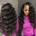 7a Peruvian Loose Wave Virgin Hair 3 PCS  Peruvian Virgin Hair Loose wave Human hair wet and Wavy Virgin  Peruvian Hair