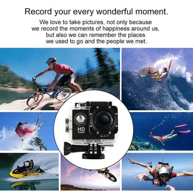For HAMTOD HKJ400 2.0 Inch LCD Screen HD 1080P WiFi Motion Camera With Waterproof Case
