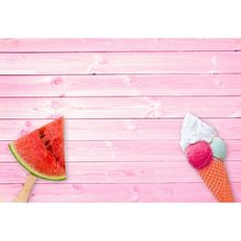 Pink Backdrops Ice Cream Watermelon Hardwood Planks Baby Newborn Pet Doll Food Portrait Photographic Backgrounds Photo Studio(China)