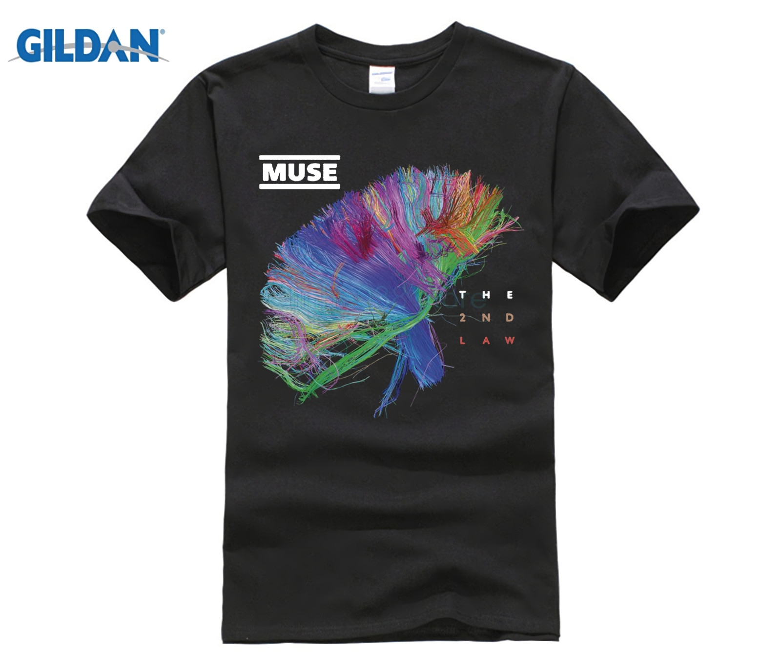 New MUSE THE 2ND LAW Rock Band Men's White Black   T  -  Shirt   Size Newest Fashion Stranger Things   T     Shirt   Men