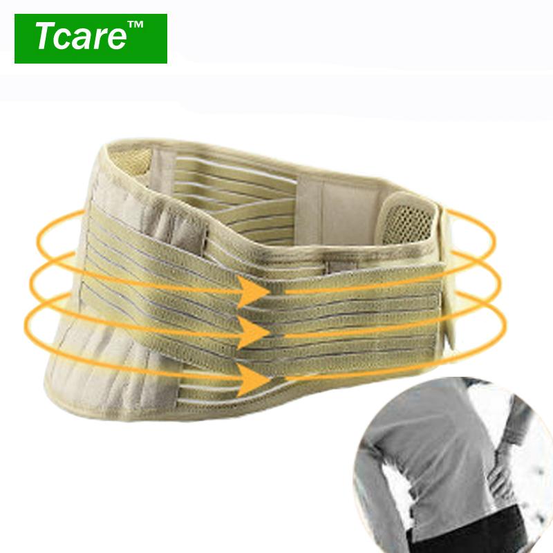 Tcare 1 Unids Turmalina el calentamiento Espontáneo Ajustable Inferior Alivio del Dolor Terapia Magnética Cinturón Ayuda de la Cintura Lumbar Corsé Cuidado de La Salud