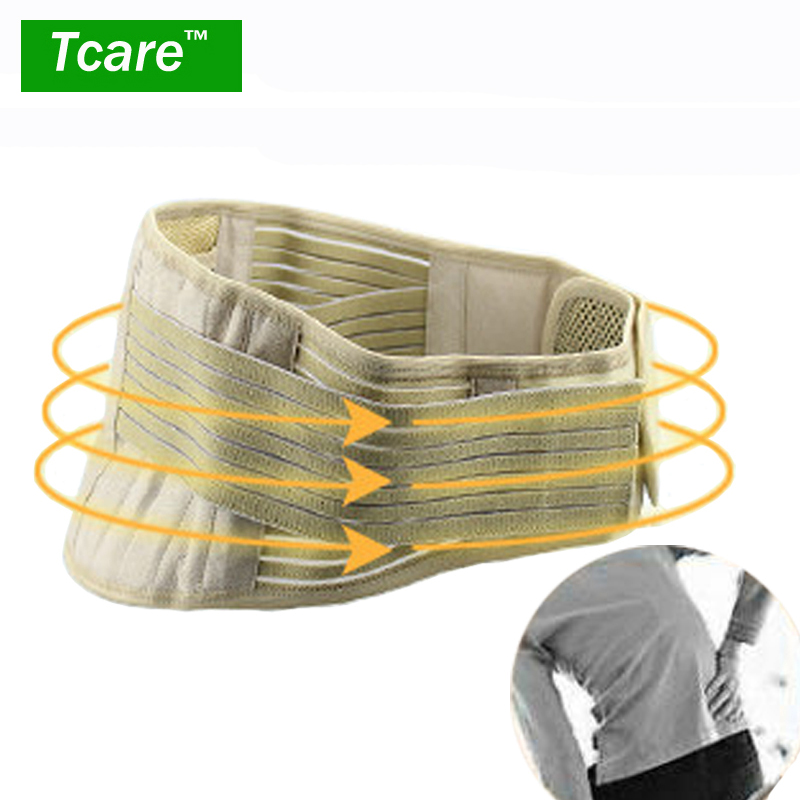 Tcare 1Pcs Tourmaline Adjustable Self-heating Lower Pain Relief Magnetic Therapy Waist Support Belt Brace Lumbar Health Care