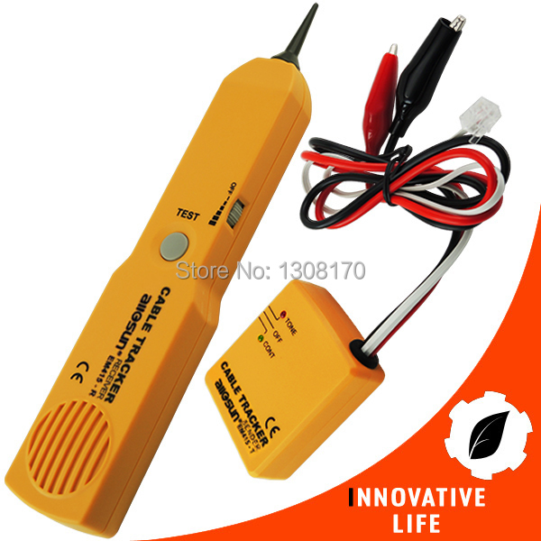 Telephone Line Cable Tracker Wire Tracer Tester Sender and Reciever Kit Tone Continuity Network Phone wire tracker tracer telephone network tester rj45 bnc converter cable finder