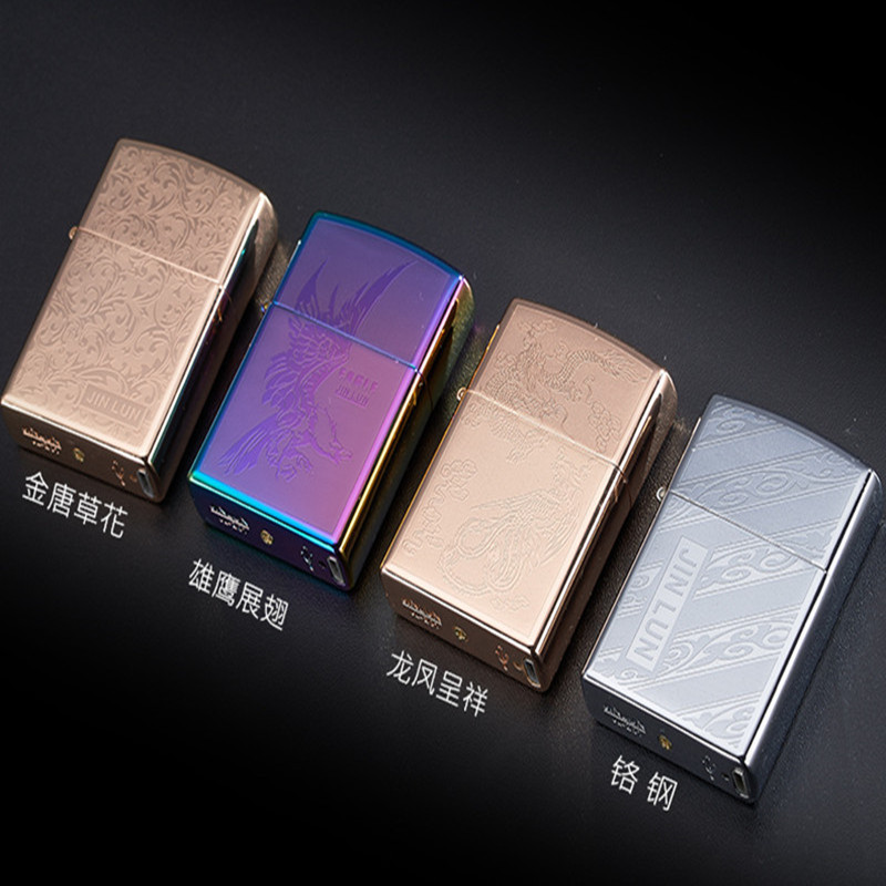 with carve pattern USB charging environmental cigarette lighter, smoking set. Men's gifts, father's day gift