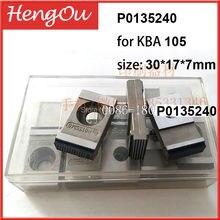20 peças frete grátis máquina de impressão KBA pinça partes P0135240, KBA 105 pinça pad 30*17*7mm