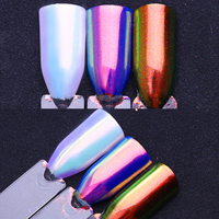 0.2g Unicorn Chrome Powder Mermaid Powder Nail Art Chrome Pigment Manicure Nail Decoration