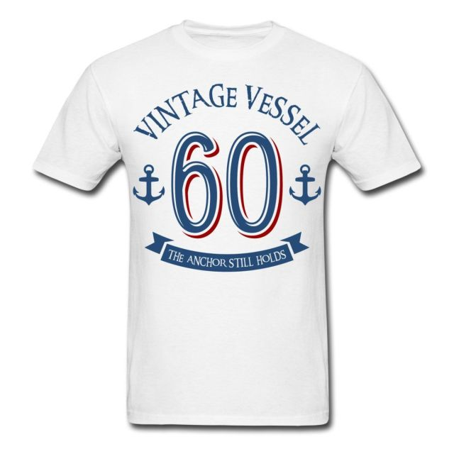 nautical 60th birthday vintage vessel men s t shirt brand 2017 new t
