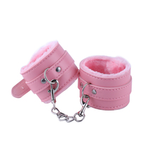 Plush and Leather Sexy Handcuffs
