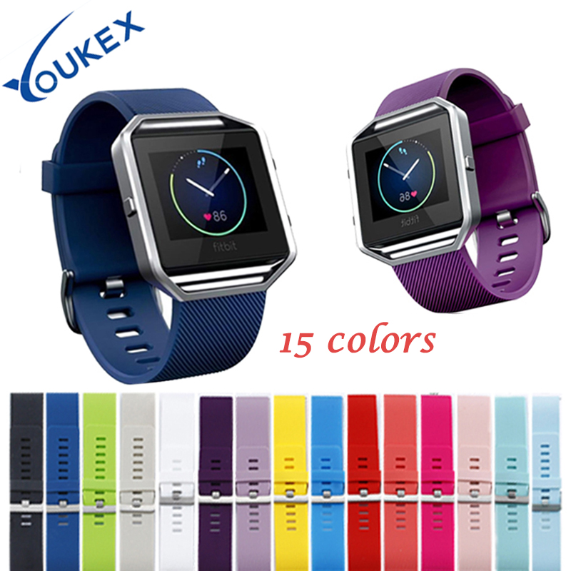 levenhuk blaze 15 45x60 YOUKEX classical silicone sport band for fitbit blaze smart watch replacement bracelet wrist strap for blaze 15 colors