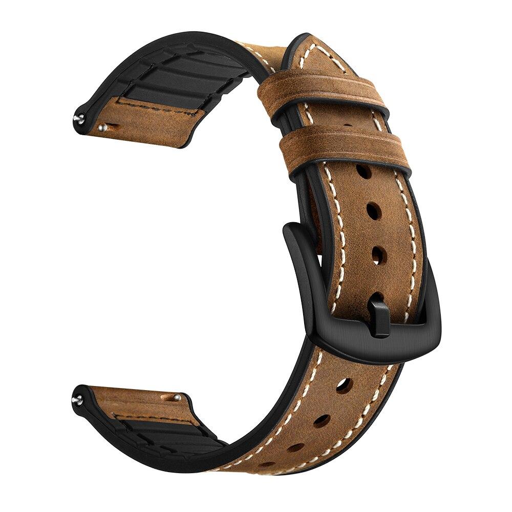 Leathe + silikon sport strap Für Samsung Getriebe S3 Frontier/Klassische uhr 46mm armband armband handgelenk 22mm bands ersatz gürtel