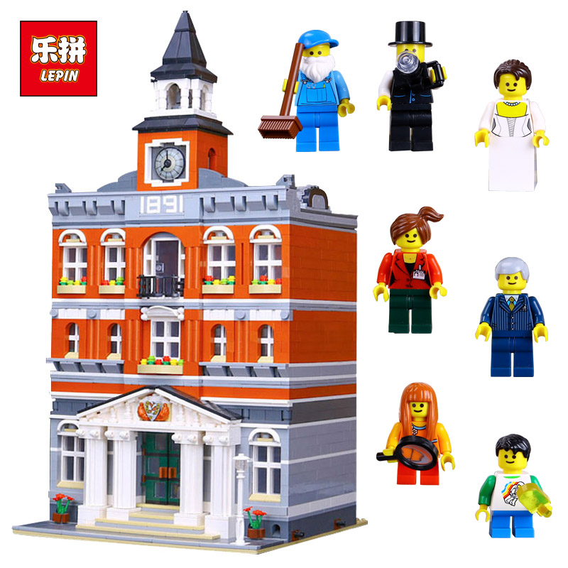 Lepin 15003 City Street The Town Hall Model Building Block Assembling Toys Kits Compatible with lego 10224 Educational Gifts кроссовки adidas originals tubular runner leaf camo d68976