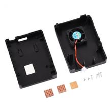 Protective Case Enclosure + Cooling Fan + 2/3Pcs Heat Sink for RPi 3 B / 2B / 2 B+