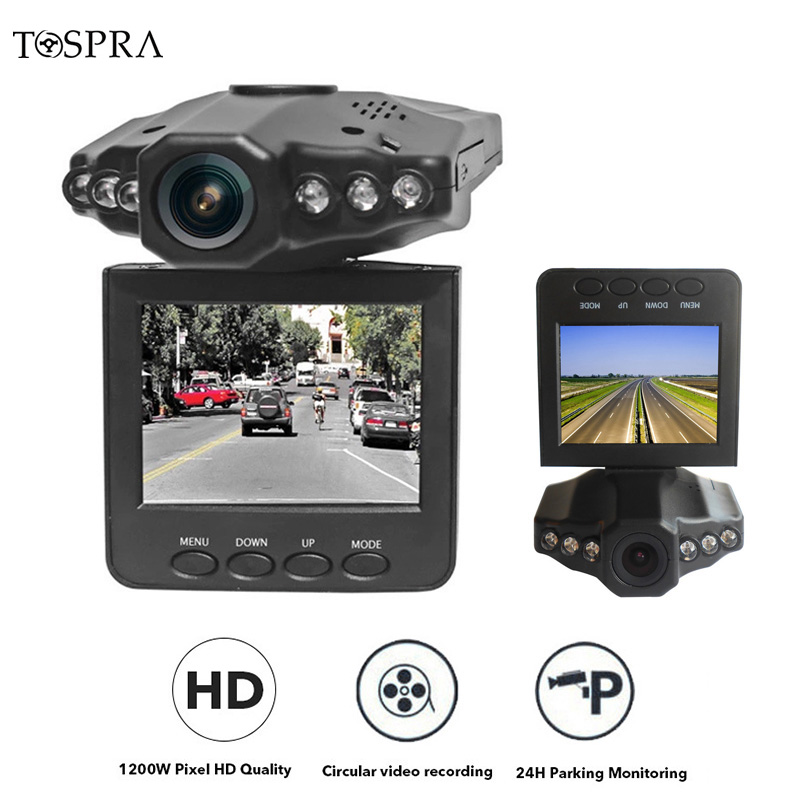 TOSPRA 2.5 Inch Car Camera Dash Cam Full HD 1080P Car Recorder Camera Dashboard Video