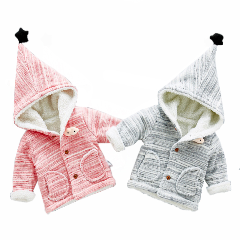 Baby Jacket Winter Hoodie For Girls Boys Coat Children Cardigan New Years Costume For Kids Outerwear Warm Clothes Child