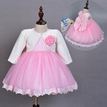 Newborn Baby Frocks Girl Baptism Dresses Suit Party Princess Wedding Birthday Christening Dress Big Bow Lace tulle Costumes Sets