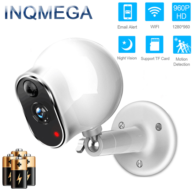 INQMEGA Wire Free Battery Camera IP Camera Home Indoor Security ...