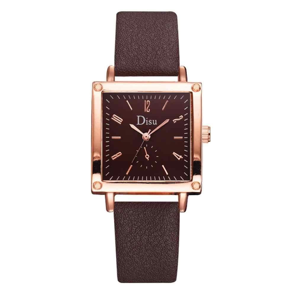 2019 יוקרה מותג נשים של שעון פשוט סגנון רצועת עור קוורץ שעון אופנה שעוני יד גבירותיי שעונים שעון מתנה עבור נשים XC
