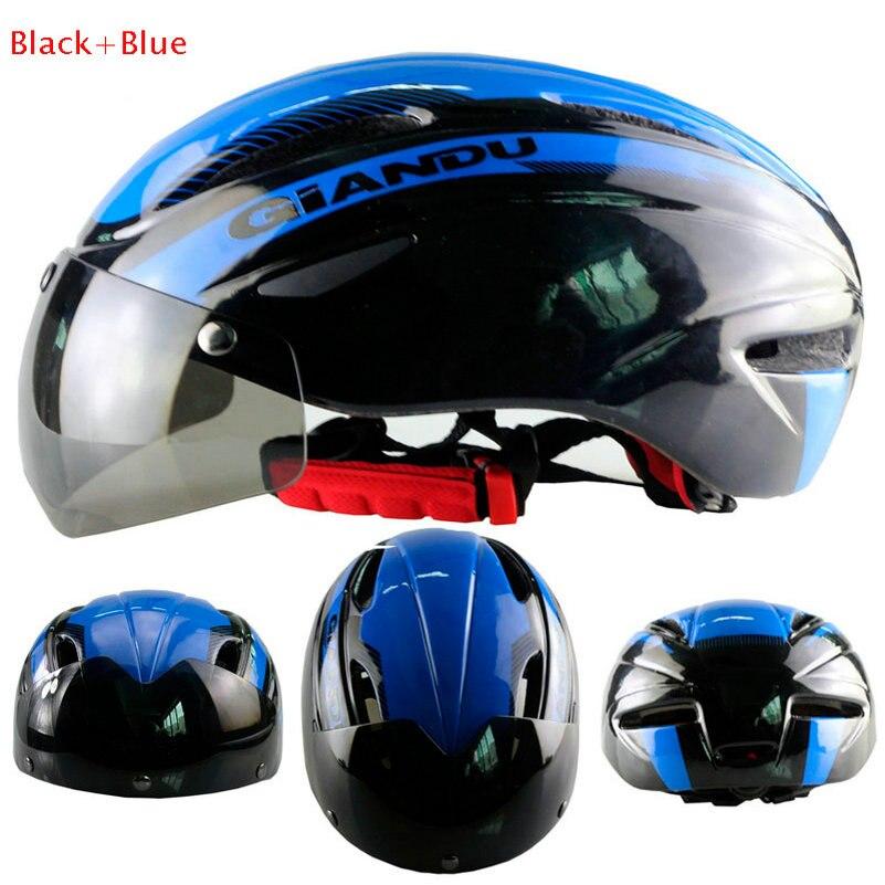 Bicycle Cycling Helmet Ultralight Capacete De Ciclismo Bike Road Helmet Goggles helmet Motorcycle Helmet With Magnetic UV Visor universal bike bicycle motorcycle helmet mount accessories