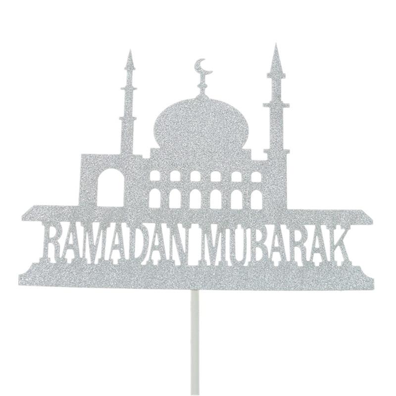 Image 5 - Eid Mubarak Cake Toppers Flags Glitter Kids Happy Birthday  Cupcake Topper Wedding Baby Shower Party Ramadan Muslim Baking DIYCake  Decorating Supplies
