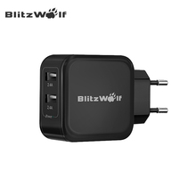 BlitzWolf BW-S2 EU US Universal 4.8A 24W Dual Port Travel Wall USB Charger Adapter Fast Charging For iPhone Smartphone