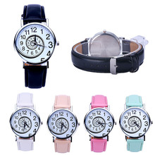 Women Watch Swirl Pattern Leather Analog Quartz Wrist Watch Fashion Bracelet relogio feminino  dropshipping free shipping  #30
