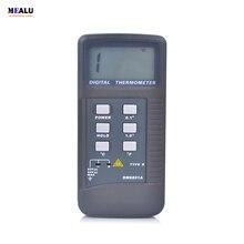 Высокоточный цифровой термометр с ЖК дисплеем, пирометр, измеритель температуры с датчиком типа K, диапазон измерения 50 1300 градусов