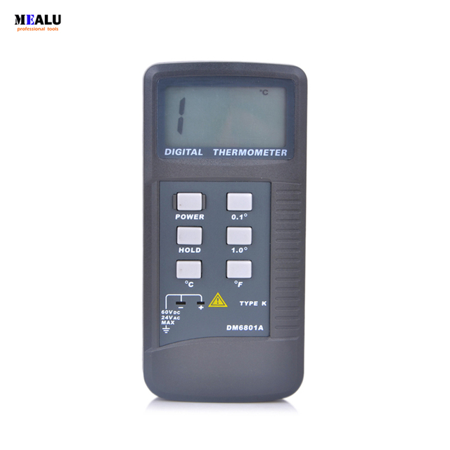 High Precision Lcd Display Digital Thermometer Pyrometer Temperature Meter with K Type Probe Measuring Range 50 1300 Degree
