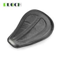 Motorcycle Black Brown Leather Solo Seat Front Driver Cushion For Harley Davidson Sportster XL1200 XL883 48 2004 04