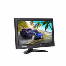 ESCAM T10 10 inch TFT LCD 1024x600 Monitor with VGA HDMI AV BNC USB for PC CCTV Security Camera factory selling 12 inch cctv tft lcd monitor vga av hdmi bnc usb input display security camera car rearview computer screen