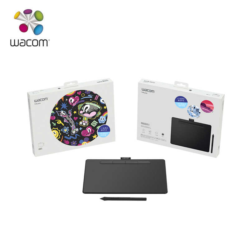 [1 Year Warranty] Wacom Intuos CTL-6100 Digital Graphic Drawing Tablet 4096  Pressure Levels Medium Size for PC/Mac/Laptop