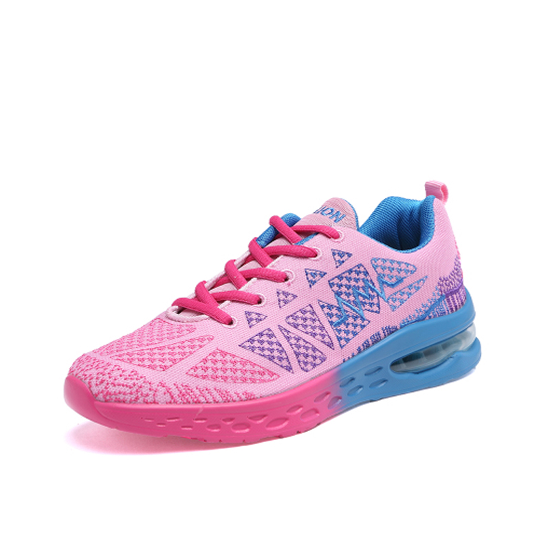 AIR 2017 Quick Light Running Shoes Breathable Flyknit Female Sneakers  Comfort Black Pink Women\u0027s Sports Shoes