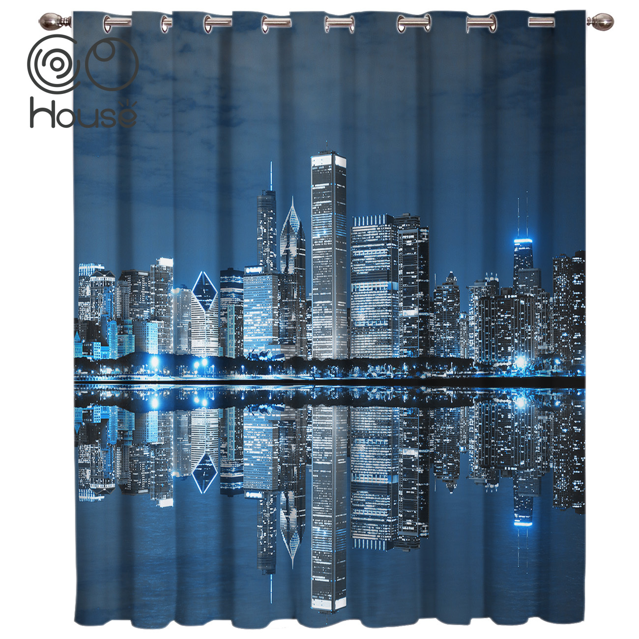 COCOHouse Chicago Landscape Architecture Window Treatments Curtains Valance Window Curtains Dark Window Blinds Bathroom Bedroom