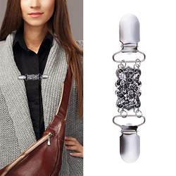 Новый дизайн, хит продаж, 5 шт., сплав, женский кардиган, свитер, блузка шаль, клипсы, рубашка, воротник, ретро, зажимы для утки, подарок для