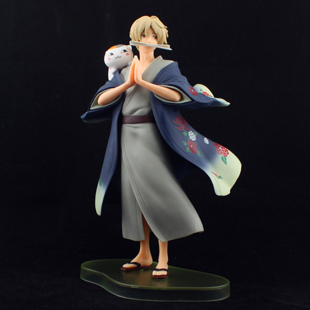 Love Thank You Natsume Takashi Yuujinchou Nyanko sensei Banpresto B 25cm PVC Anime figure toy Model gift new new hot 16cm natsume yuujinchou cat nyanko sensei action figure toys collection christmas gift