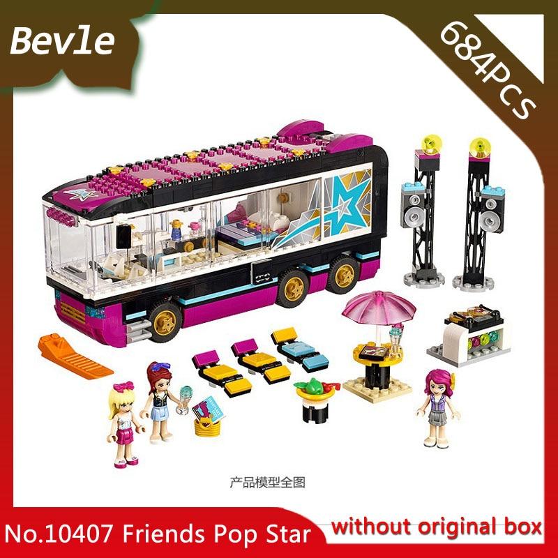 Bevle Store Bela 10407 684pcs Friends Series Famous singer tour bus Building Blocks Set Bricks Toys For Children LEPIN 41106 managing the store