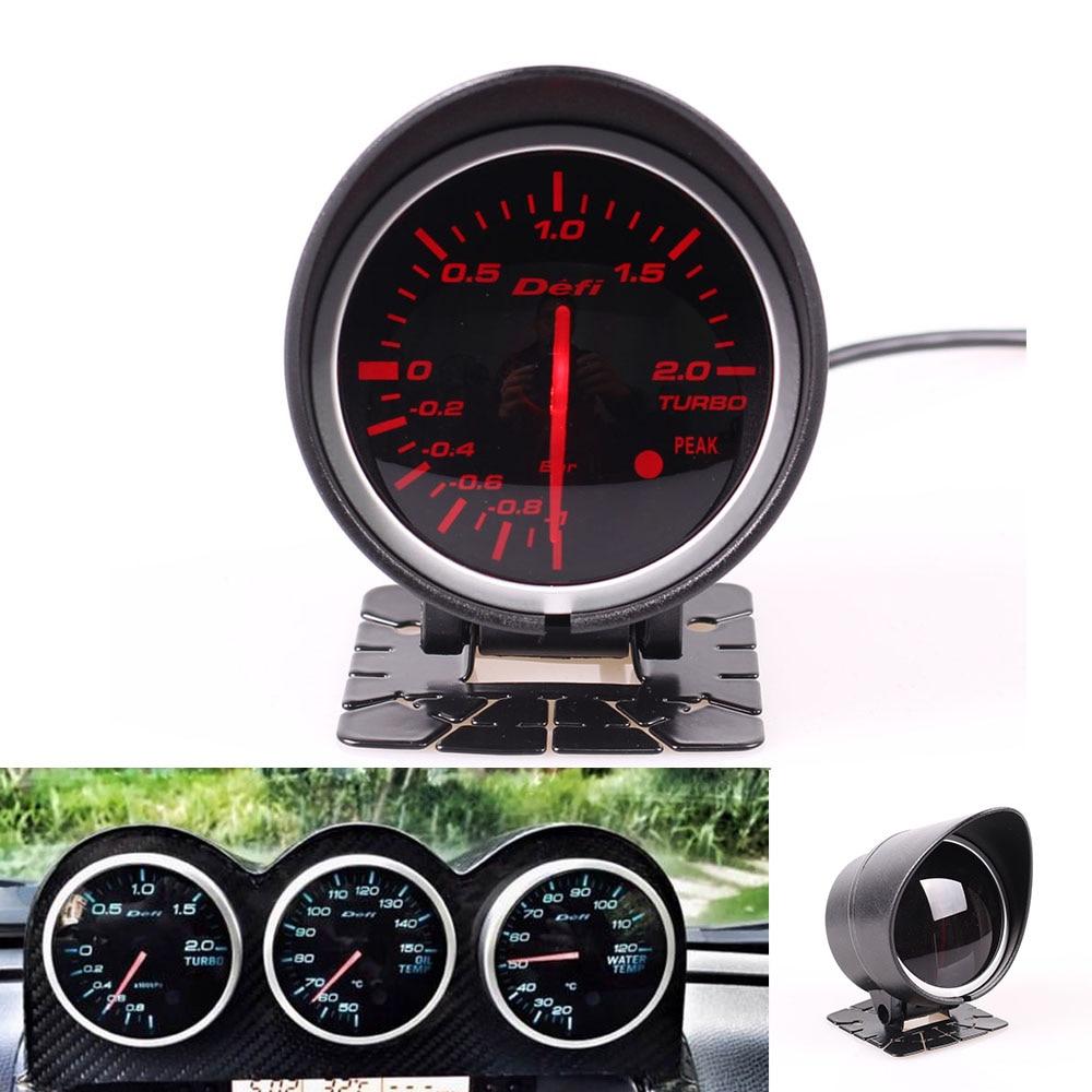 Defi BF Medidor Smoke Lens 2.5 polegada Volt Óleo Temperatura Da Água Temp Oil Press Rpm Turbo Boost Relação de combustível Ar auto Bitola Métrica DF04301