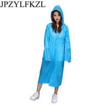 JPZYLFKZL Raincoat Women 2018 Fashion Ladies Rain Coat Breathable Long Raincoats Portable Water-Repellent girls rain coat