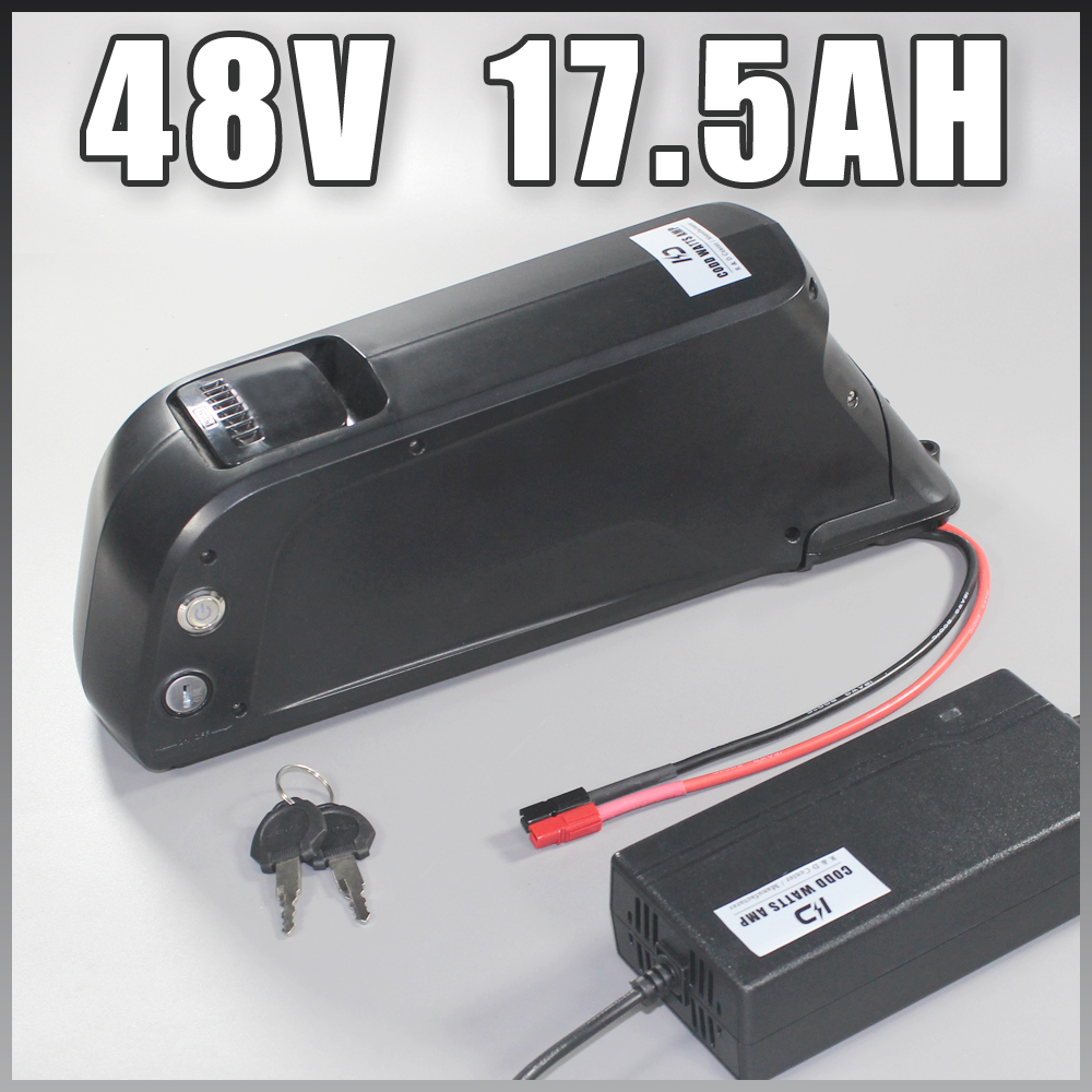 US EU No Tax battery with USB Sanyo GA cell 48V 17.5Ah Li-ion electric bike battery for Bafang 1000W BBSHD motor kit