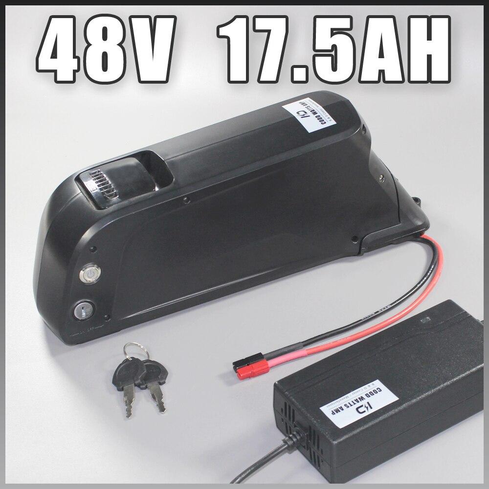 US EU No Tax battery with USB Sanyo GA cell 48V 17.5Ah Li-ion electric bike battery for Bafang 1000W BBSHD motor kit